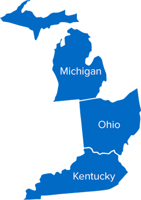 Buckeye education regions - Michigan, Ohio, and Kentucky