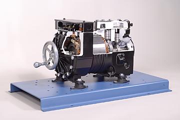 373-120 Semi-Hermetic Compressor Cutaway Image